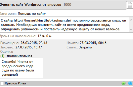 Очистка Wordpress от виурсов